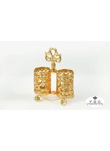 Yargıcı Kaşıklık 2 Li Altın Küçük 20x15 cm Renkli